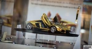 Gold Lamborghini Model