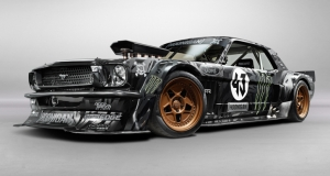 Ken Block Gymkhana. Mustang Notchback