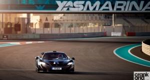 McLaren P1. Yas Marina Circuit