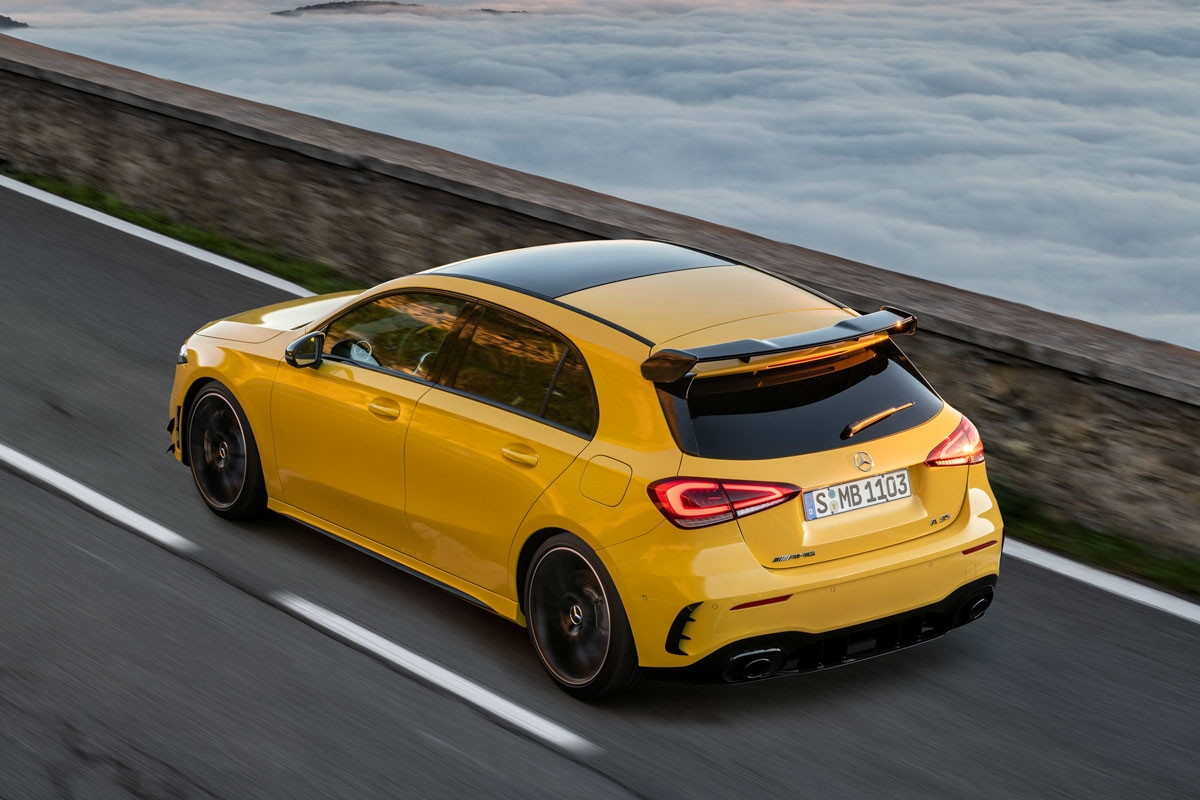 mercedes amg a35 revealed in full watch out s3 and golf r. Black Bedroom Furniture Sets. Home Design Ideas