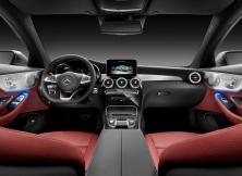 Mercedes-Benz C-Klasse Coupé C 300, Selenit Grau, Leder Cranberry rotMercedes-Benz C-Class Coupé C 300, selenit grey, leather cranberry red