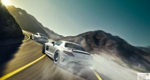 Mercedes SLS AMG Black vs Porsche 911 GT3