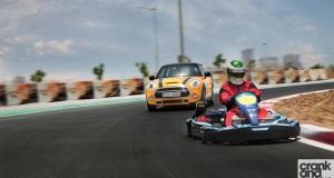 MINI Cooper S vs Sodi go-kart