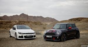 MINI John Cooper Works GP vs Volkswagen Scirocco R. Dubai, UAE