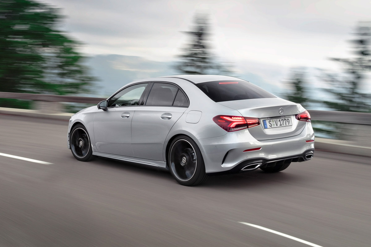 new 2018 mercedes benz a class saloon revealed. Black Bedroom Furniture Sets. Home Design Ideas