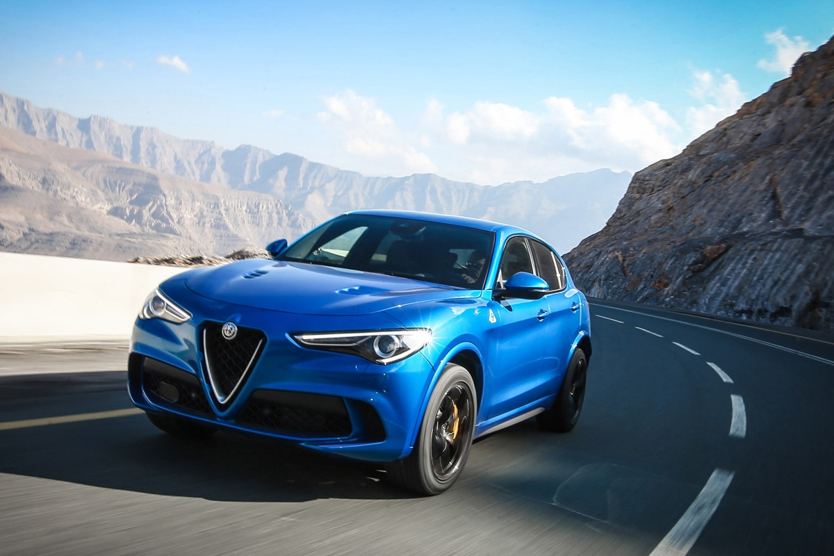 alfa romeo stelvio quadrifoglio review alfa wades into the fast suv fight. Black Bedroom Furniture Sets. Home Design Ideas