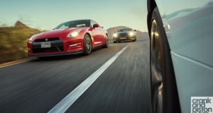 Nissan GT-R vs Jaguar F-TYPE V8 R vs Aston Martin DB9