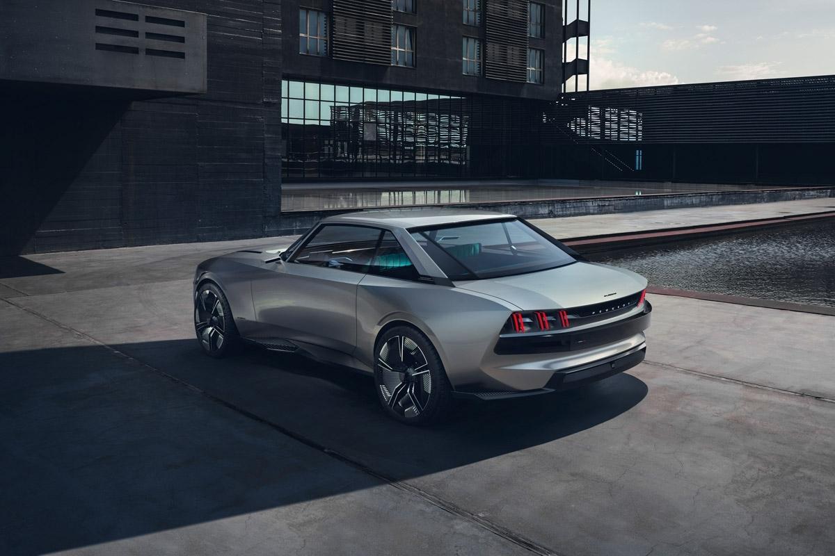 peugeot e legend concept revealed paris show car looks to the past and future. Black Bedroom Furniture Sets. Home Design Ideas