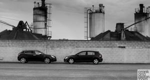 Volkswagen Golf vs Alfa Romeo Giulietta. Dubai, UAE