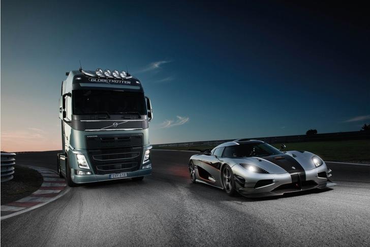 Volvo FH vs Koenigseg One:1 15