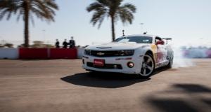 Worlds longest Drift. Abu Dhabi, UAE. Red Bull Athelete Feghali